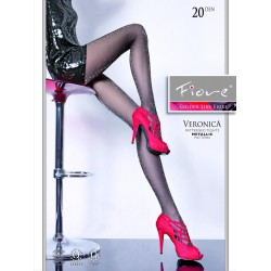 Veronica - Patterned Tights 20 den with Metallic Pattern - Fiore