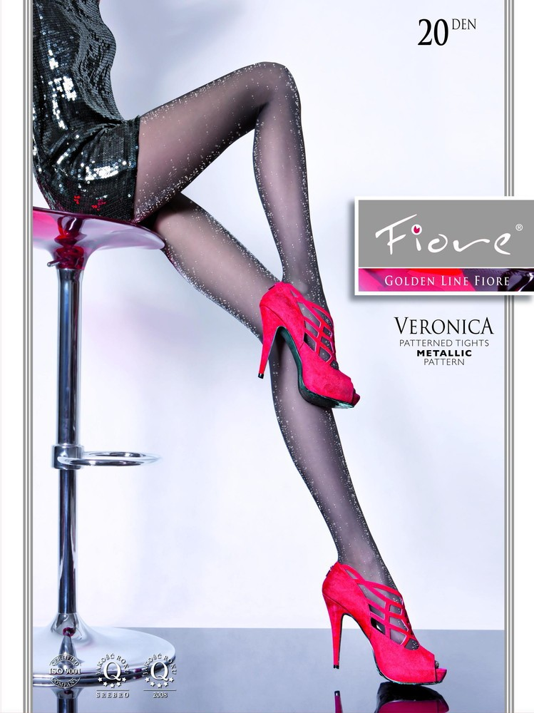 c62cf187b Veronica - Patterned Tights 20 den with Metallic Pattern - Fiore ...