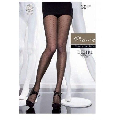 Dezire - Patterned polka-dot tights - Fiore