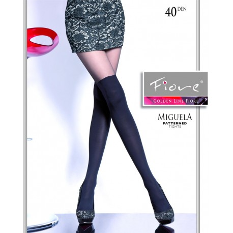 Miguela – fashion top 2015 - Tights imitating overknee socks - Fiore