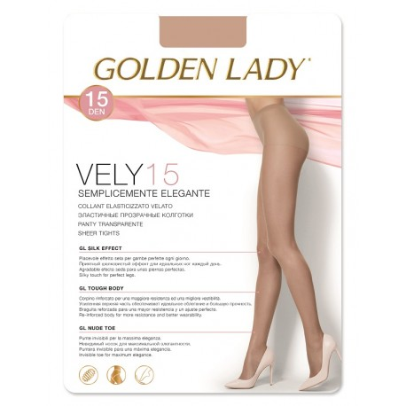 Vely 15 - Sheer Italian Tights - Golden Lady